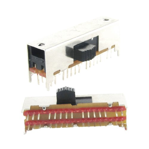 Aexit  – 5 Panel PC X PCB 30 Pin A 4 Positionen 6P4T Rotation der Schalter Mini Slide Slide 0.5 A 50 V DC (Slide Dimmer Licht)