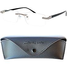 Gafas de Lectura Montura al Aire con Cristales Rectangulares  821b530f25f8
