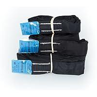 Eslinga Firetoys de poliéster para elementos suspendidos, con límite de carga útil de 2 toneladas, varios tamaños de spanset EWL disponibles, color negro, 1 m