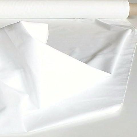 B1 Baumwoll-Nessel als Deko-Stoff in Weiß 260cm breit - Meterware für Vorhang, Hintergrund,