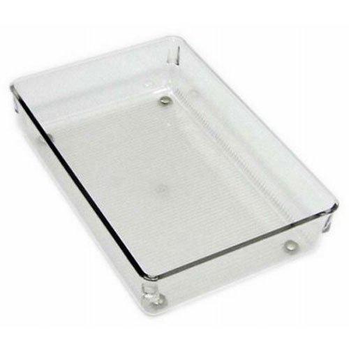 Stifte-schublade (InterDesign Linus Schubladenorganizer, großer Schubladeneinsatz aus Kunststoff für Besteck und andere Utensilien, durchsichtig)