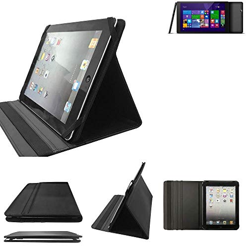 K-S-Trade odys Wintab GEN 8 Schutz Hülle Business Case Tablet Schutzhülle Flip Cover Ultra Slim Bookstyle Tasche für odys Wintab GEN 8, schwarz. Kunstleder Qualitätsware