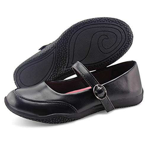 Jabasic Girls Mary Jane School Shoes Classic Uniform Dress Flats