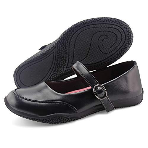 Jabasic Girls Mary Jane School Shoes Classic Uniform Dress Flats