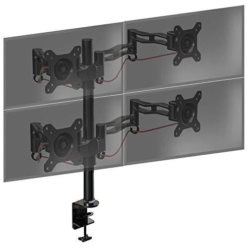 Duronic DM354 Monitorhalterung/Tischhalterung/Monitorarme/Monitorständer für LCD/LED Computer Bildschirme/Fernsehgeräte mit Neig und Rotierfunktion - Stück Verfügbar, Separat Erhältlich