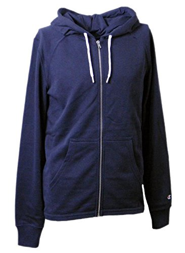 Champion Sweatshirt Herren HOODED FULL ZIP SWEATSHIRT Blended Ultra Light Frühling Terry gr.240 Marineblau (Navy Blue NNY),XL (Champion Sport-frühling)