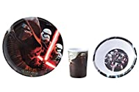 Star Wars Set di stoviglie per bambini20cm, piatti, bicchieri 9x 6,5cm e scodella 14,5cm Adatto per lavastoviglieMolto robusta e resistente agli urtiLicenza originale
