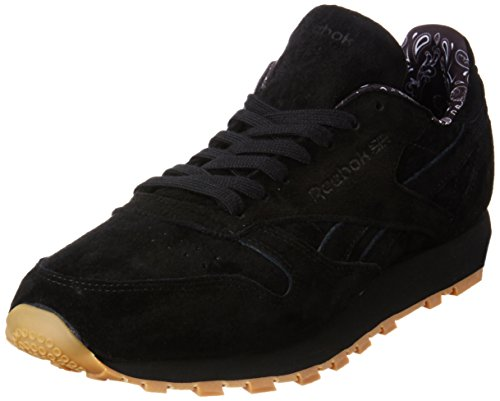 Reebok Herren CL Leather TDC Laufschuhe, Schwarz (Black/White-Gum), 42 EU (Classic Reebok Cl)