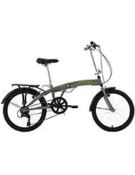 KS Cycling Erwachsene Faltrad Cityfold RH 27 cm Fahrrad, Grau, 20