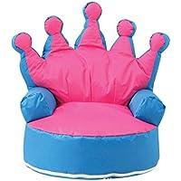 Preisvergleich für Krone Prinzessin Kinder Sitzsack Kid Sitzsack Sofa Stuhl mit filling-uk Verkäufer