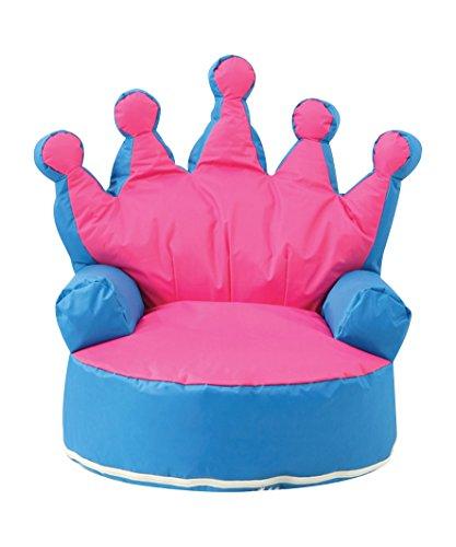 Krone Prinzessin Kinder Sitzsack Kid Sitzsack Sofa Stuhl mit filling-uk Verkäufer