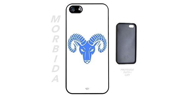 Cover In Silicone Per Iphone 5 5s Segni Zodiacali Ariete Blu Sfondo