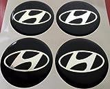 Hyundai★4 Stück★ 60mm Aufkleber Emblem für Felgen Nabendeckel Radkappen