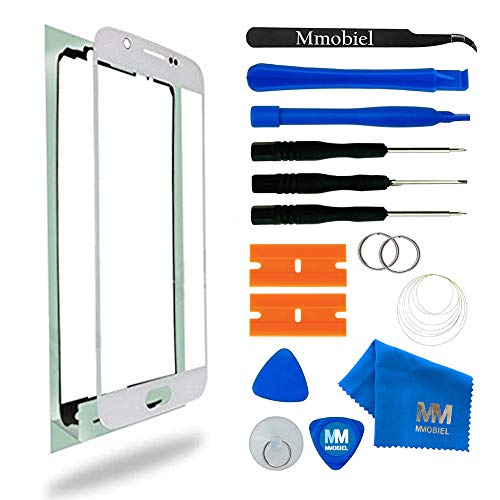 MMOBIEL Kit de Reemplazo de Pantalla Táctil para Samsung Galaxy S6 G920 Series (Blanco) Incluye Pantalla de Vidrio/Cinta Adhesiva de 2 mm/Kit de Herramientas/Limpiador de Microfibra/Alambre