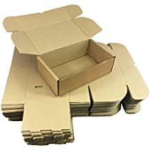 Folding Lid Self Seal Postal Cardboard Boxes 240 x 150 x 80mm Royal Mail Large Letter / Packet Mailing Cartons Self-Lock Tuck-In Flaps Multiple Sizes Available / Flat Packed Easy To Assemble No Tape Or Glue Required (10)