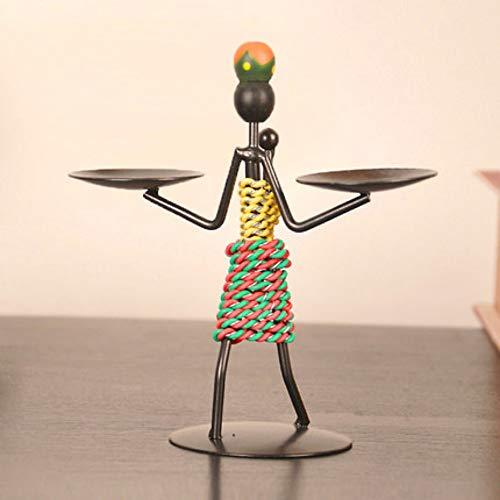 hacxiaoming Estatua Candelero Creativo Decoraciones De Metal Dormitorio Arte Manualidades Regalos Estilo...