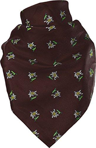 Farben Wiesn Halstuch mit Walze Edelweiß Trachten Tuch Trachtenhalstuch vers
