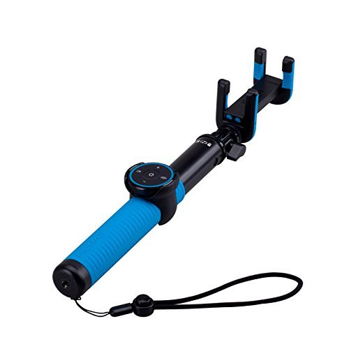 MOMAX Bluetooth Selfie Stick, Foldable Extendable Selfie Monopod with Removable Remote Bluetooth Shutter for for iPhone 7/7 plus/Se/6s/6/6 Plus,Samsung, LG and More (100cm Blue)