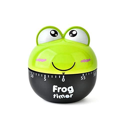 KOBWA Netter Frosch-Timer, 60 Minuten Tier Mechancial Drehender Timer für Das Backen, Studie,...