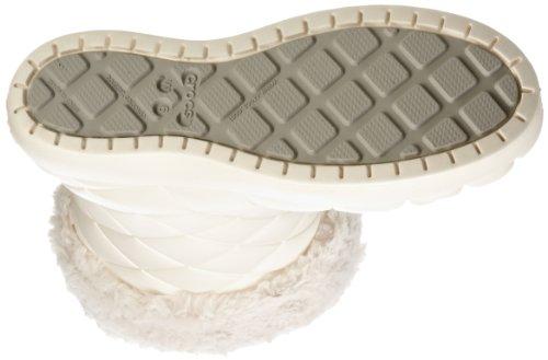 crocs Super Molded Cuffed Puff Boot Women 12514 Damen Fashion Halbstiefel & Stiefeletten Beige (Oyster/Oyster)