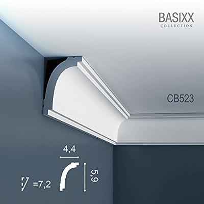 Orac Decor BASIXX Deckenleiste Eckleiste CB523 Profilleiste Stuckleiste Zierleisten Zierprofile