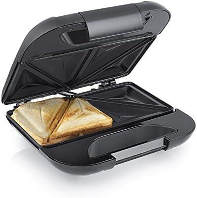 Princess 01.127001.01.001 - Sandwichera con bandejas, tapa con bloqueo, color negro