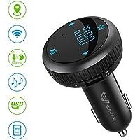 Transmetteur FM Bluetooth Voiture, SAVFY Chargeur USB Voiture Avec Fonctions de Localisation Voiture/ Mains Libres Sans Fil Bluetooth /Traceur GPS Antivol/Lecteur MP3 Adaptateur/ Mini Écran d'Affichage Support USB Flash Drive--Noir