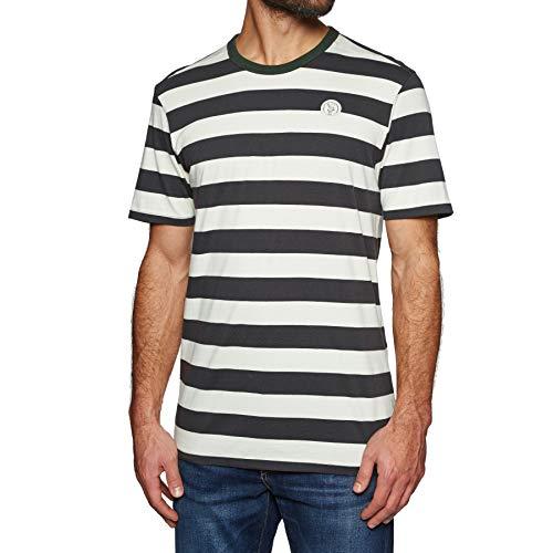 Hurley Herren M Custom Striped TOP S/S Shorts, Oil Grey, XL