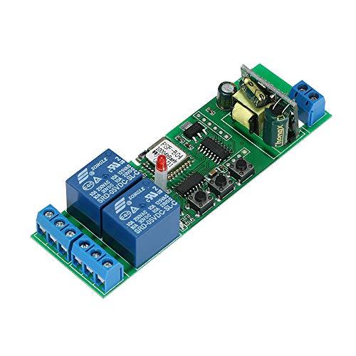 SONOFF Smart WiFI Schalter, 2CH AC85-250V Kabellos Universal Modul Schalter Timer Kompatibel mit