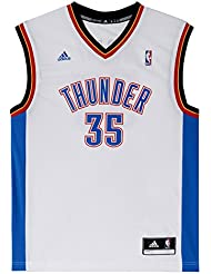 adidas Men's Oklahoma City Thunder Kevin Durant NBA Replica Jersey