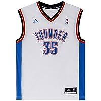 Adidas INT Replica JRSY Camiseta de Baloncesto NBA Oklahoma City Thunder, Hombre, Blanco,