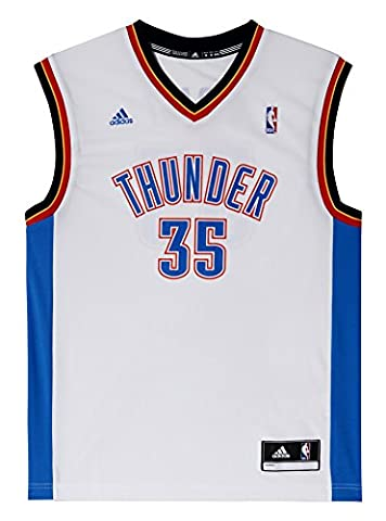 adidas NBA Oklahoma City Thunder Kevin Durant Domicile Replica Maillot Homme Blanc FR : M (Taille Fabricant : M)