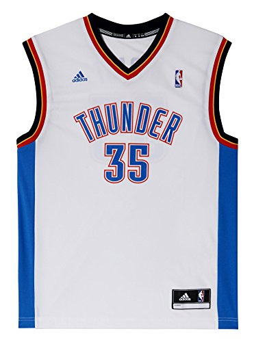 adidas NBA Oklahoma City Thunder Kevin Durant Domicile Replica Maillot Homme Blanc FR : L (Taille Fabricant : L)