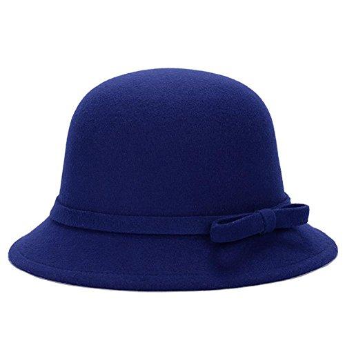 Dosige Mujer Sombrero Hongo Gorra Bombín con Visera Curvada Bowler Hat  Sombrero Boina para Cálido Gorro 8a39ffd3774