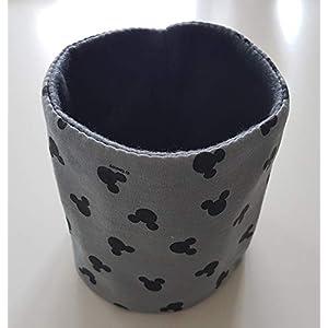 Hundeloop Loop Schal Hund grau Micky Mouse 35/39 Handarbeit Handmade