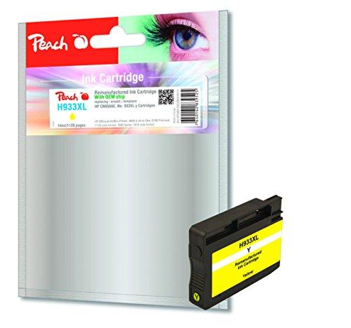 Preisvergleich Produktbild Peach Tintenpatrone gelb HC kompatibel zu HP No. 933XL, CN056AE