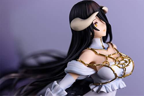 Yvonnezhang 25 cm Overlord Albedo Anime Cartoon mädchen Anime PVC Action-Figuren Spielzeug Anime Figur Spielzeug Für Kinder Kinder, kleinkasten (Mädchen Anime)