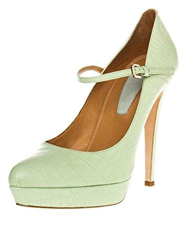 STRENESSE by GABRIELE STREHLE Femmes Chaussures à talons hauts cuir véritable Collection d'été vert clair