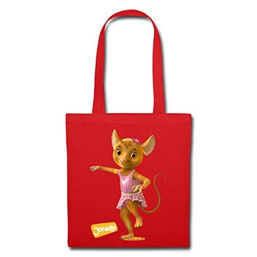 Spreadshirt Jonalu Mouse Girl Naya Borsa Di Stoffa Rossa