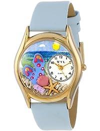Whirlpool  C1210013 - Reloj de cuarzo para hombre, con correa de cuero, color multicolor