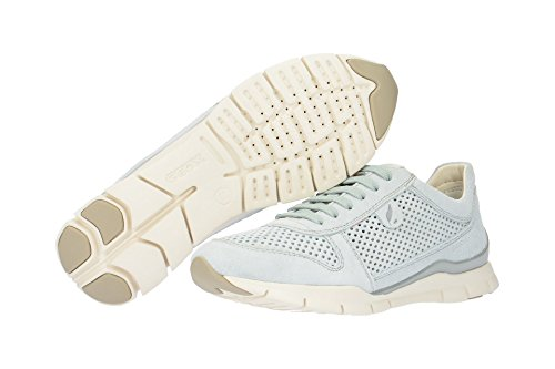 Geox Damen D Sukie F Sneaker Grau (Azure)