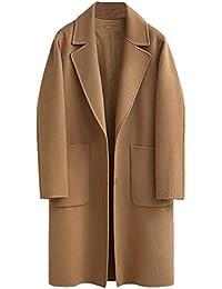 6d8e92ae6b11 Vogstyle Femme Manteau Long Chaud Mode en Mélange de Laine Cashmere Parka  Casuel Trench Coat Boutonnage