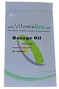Borage Oil [1000mg] - 60 Capsule   Richiudibile Foil Package [Olio di borragine   Starflower olio]