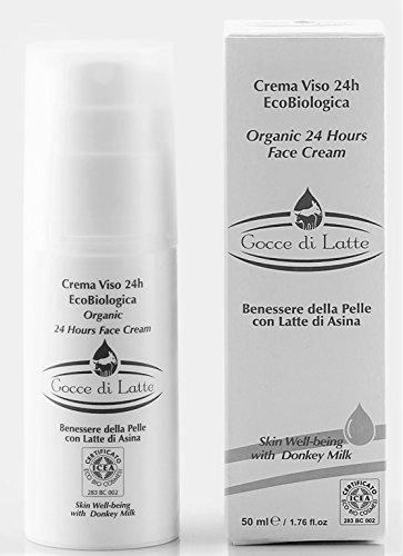 Crème Visage 24h au Lait d'Anesse | Écobio - 50mL
