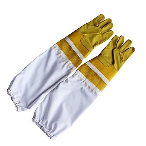 D DOLITY 1 paire Gants D'apiculteur à Manches de Protection Longues pour Apiculture