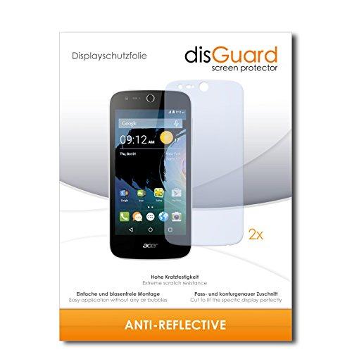 disGuard® Bildschirmschutzfolie [Anti-Reflex] kompatibel mit Acer Liquid Z330 [2 Stück] Entspiegelnd, Matt, Antireflektierend, Extrem Kratzfest, Anti-Fingerabdruck - Panzerglas Folie, Schutzfolie
