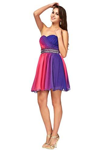 ivyd ressing robe robe populaire mousseline Lave-vaisselle Prom Party kled robe du soir Violet - Violet