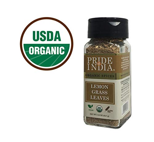 Pride Of India - Organic Lemongrass Fine Cut & Sifted - 0.8 oz (22.7 gm) Small Dual Sifter Jar - Certified Pure and Authentic Indian Herb - BUY 1 GET 1 FREE (MIX AND MATCH - PROMO APPLIES AT CHECKOUT) - Usa Loose Powder