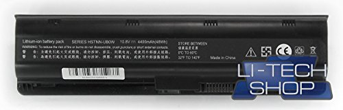 LI-TECH Akku kompatibel für HP Pavillion G6-2010SE 10.8 V 11.1 V Schwarz 48 Wh