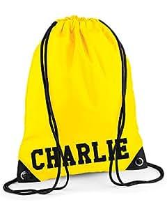 Sac à cordon personnalisable pour sac à dos (Jaune)
